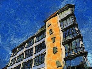 Letra-Haus à la van Gogh (Bildbearbeitung: Ralph Stenzel)