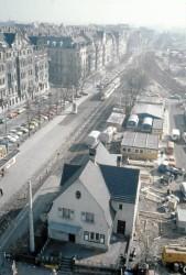 Baustelle U-Bahn im Jahr 1980, Blick vom Quelle-Frauenwohnheim Königswarterstr. 84 auf Hornschuchpromenade (Foto: unbekannt)