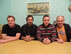Der neu gewählte Vorstand von Fürth Wiki e. V. (v.l.n.r.: Mark Muzenhardt, Kamran Salimi, Günter Scheuerer und Ralph Stenzel. Foto: Felix Geismann)
