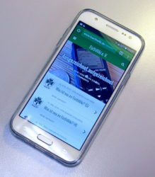 Modern und übersichtlich: Die Mobil-Fassung unserer Vereins-Website (Foto: Ralph Stenzel)
