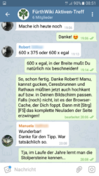 Virtuelle Teamarbeit: Kommunikation via Telegram-Gruppe (Screenshot: Ralph Stenzel)