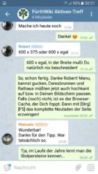Virtuelle Teamarbeit: Kommunikation via Telegram-Gruppe (Screenshot: Ralph Stenzel)