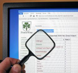 Aufschlußreiche Auswertung: die Liste der ergebnislosen Suchen (Foto: Ralph Stenzel)