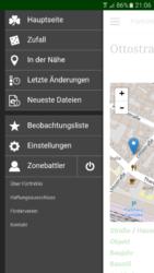 Daumenkino: Hauptmenü der FürthWiki-Mobilfassung (Screenshot: Ralph Stenzel)