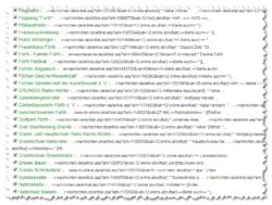 Fleißaufgabe für Freiwillige: Liste der Artikel mit kaputten FN-Links (Screenshot: Ralph Stenzel)