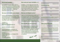 Auf den Punkt gebrachte Information: unser neuer Werbe-Flyer (Innenseite)