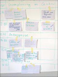 Spontan gemeinsam entwickelt: Die Samstags-Agenda (Foto: Ralph Stenzel)