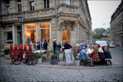 Anregender Austausch zum Abendausklang... (Foto: Jürgen Lehmann)