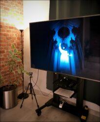 Platter Abklatsch: Das Bild auf dem Flachbildschirm vermittelte eine Vorahnung des 3D-Erlebnisses (Foto: Ralph Stenzel)